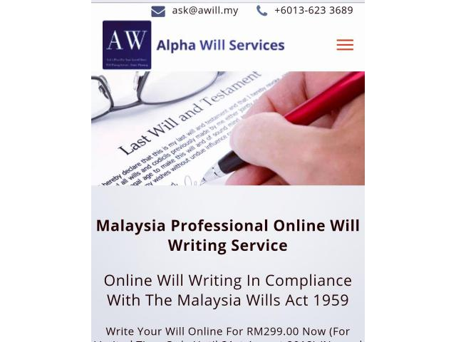 Alpha Online Will Writing Malaysia